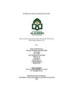 Kumpulan Makalah Filsafat Ilmu Repositori Uin Alauddin Makassar