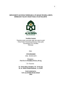 Implementasi Surat Berharga Syariah Negara Sbsn Berbasis